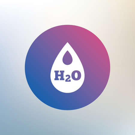 tear drop: H2O Water drop sign icon. Tear symbol. Icon on blurred background. Vector