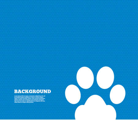 pets: Background with seamless pattern. Dog paw sign icon. Pets symbol. Triangles texture. Vector Illustration