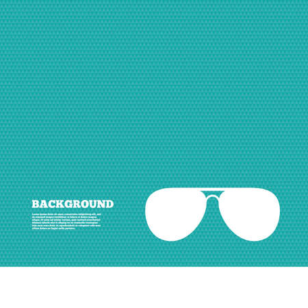 aviator: Background with seamless pattern. Aviator sunglasses sign icon. Pilot glasses button. Triangles green texture. Vector