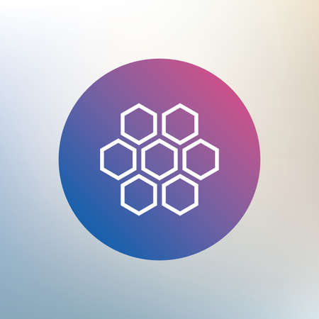 beeswax: Honeycomb sign icon. Honey cells symbol. Sweet natural food. Icon on blurred background. Vector