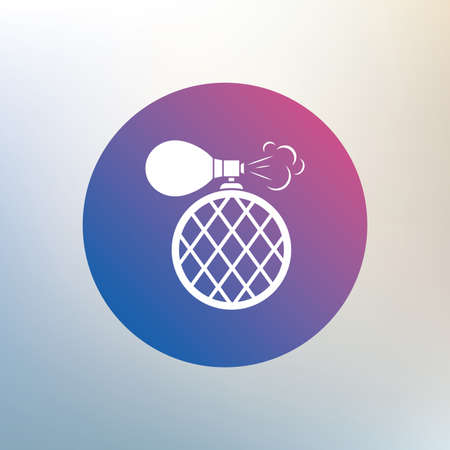 fragrance: Perfume bottle sign icon. Glamour fragrance symbol. Icon on blurred background. Vector