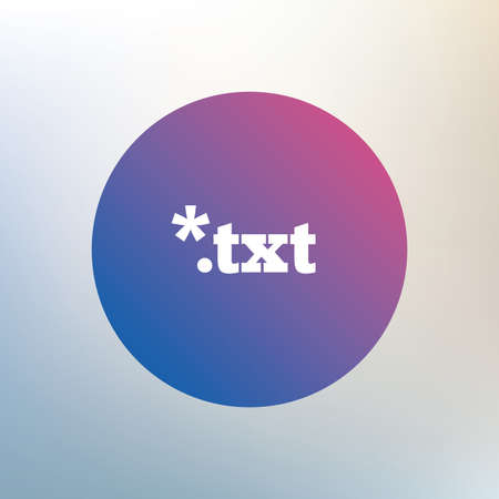 txt: Text file icon. Download txt doc button. Txt file extension symbol. Icon on blurred background. Vector