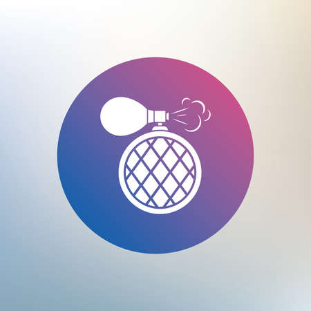 perfume: Perfume bottle sign icon. Glamour fragrance symbol. Icon on blurred background. Vector