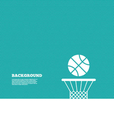 basket ball: Background with seamless pattern. Basketball basket and ball sign icon. Sport symbol. Triangles green texture. Vector