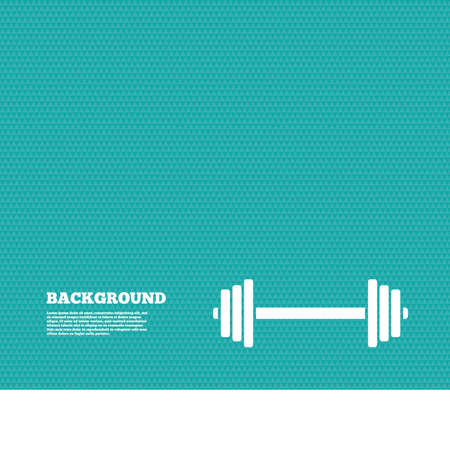 green texture: Background with seamless pattern. Barbell sign icon. Muscle lifting symbol. Triangles green texture. Vector