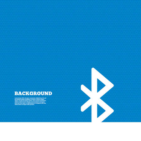 bluetooth: Background with seamless pattern. Bluetooth sign icon. Mobile network symbol. Data transfer. Triangles texture. Vector