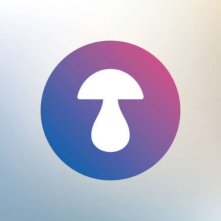 boletus mushroom: Mushroom sign icon. Boletus mushroom symbol. Icon on blurred background. Vector
