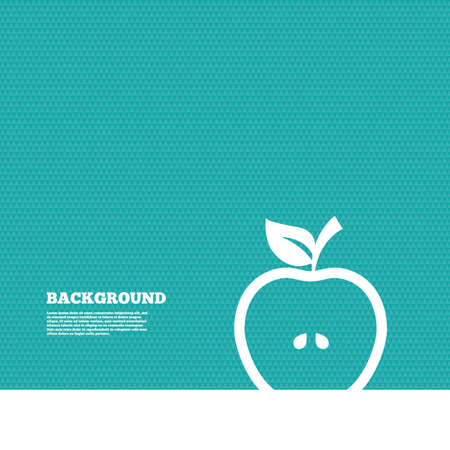 green texture: Background with seamless pattern. Apple sign icon. Fruit with leaf symbol. Triangles green texture. Vector Illustration