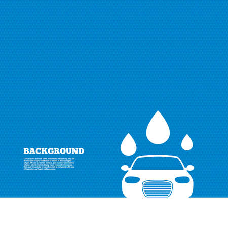 automated: Background with seamless pattern. Car wash icon. Automated teller carwash symbol. Water drops signs. Triangles texture. Vector
