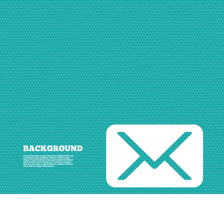 green texture: Background with seamless pattern. Mail icon. Envelope symbol. Message sign. Mail navigation button. Triangles green texture. Vector