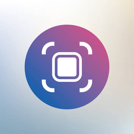autofocus: Autofocus zone sign icon. Photo camera settings. Icon on blurred background. Vector Illustration