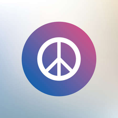 pacificist: Peace sign icon. Hope symbol. Antiwar sign. Icon on blurred background. Vector