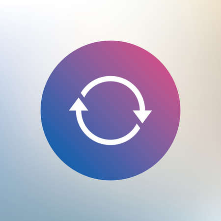 Rotation icon. Repeat symbol. Refresh sign. Icon on blurred background. Vector Illustration