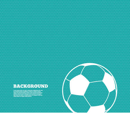green texture: Background with seamless pattern. Football ball sign icon. Soccer Sport symbol. Triangles green texture. Vector