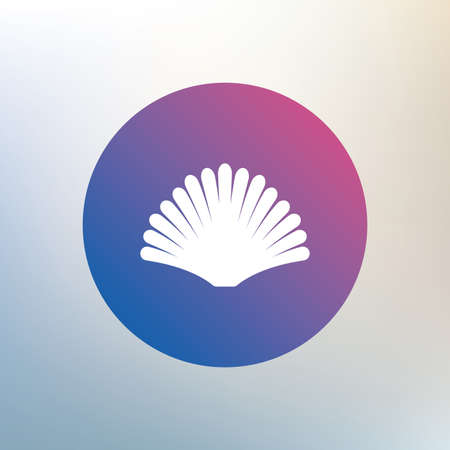 conch shell: Sea shell sign icon. Conch symbol. Travel icon. Icon on blurred background. Vector