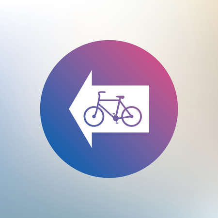 Bicycle Path Trail Sign Icon Cycle Path Left Arrow Symbol