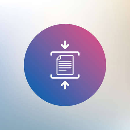 zipped: Archive file sign icon. Compressed zipped file symbol. Arrows. Icon on blurred background. Vector Illustration
