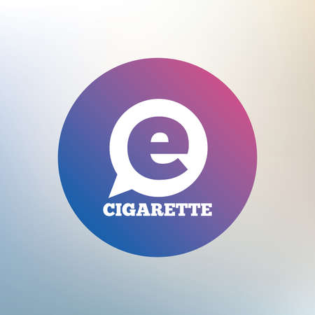 vaporizer: Smoking sign icon. E-Cigarette symbol. Electronic cigarette. Icon on blurred background. Vector