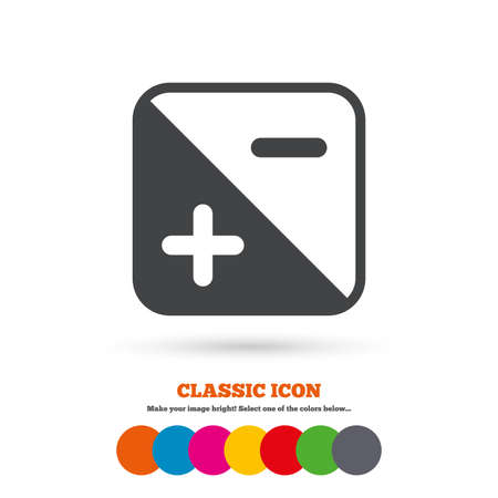 quantity: Exposure photo camera sign icon. Quantity of light settings. Classic flat icon. Colored circles. Vector