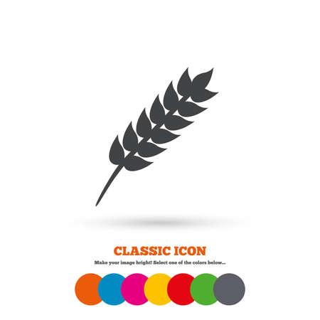 Gluten free sign icon. No gluten symbol. Classic flat icon. Colored circles. Vector