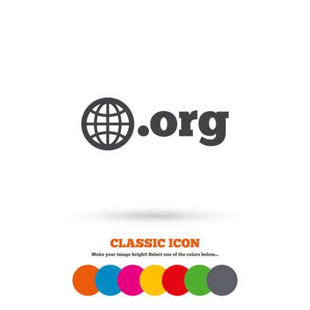Domain Eu Sign Icon Top Level Internet Domain Symbol With Globe