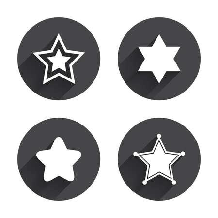 Star Of David Icons Sheriff Police Sign Symbol Of Israel Circles