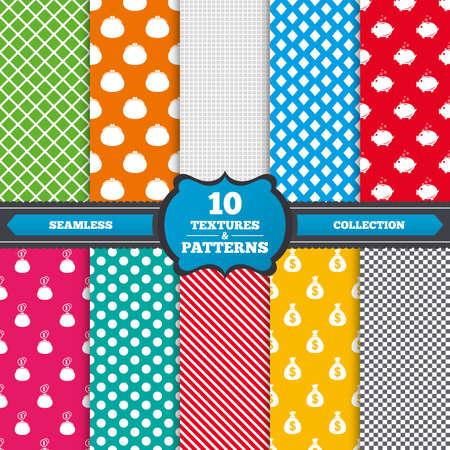 Nahtlose Muster Und Texturen. Glücklicher Mutter-Tag-Icons ...