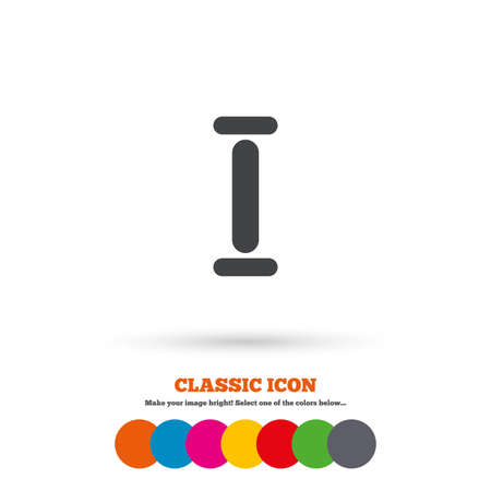 numeral: Roman numeral one sign icon. Roman number one symbol. Classic flat icon. Colored circles. Vector
