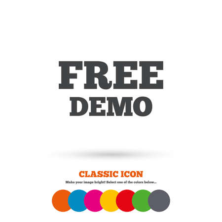 demo: Free Demo sign icon