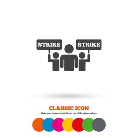 Strike sign icon