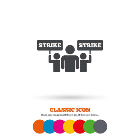 activists: Strike sign icon