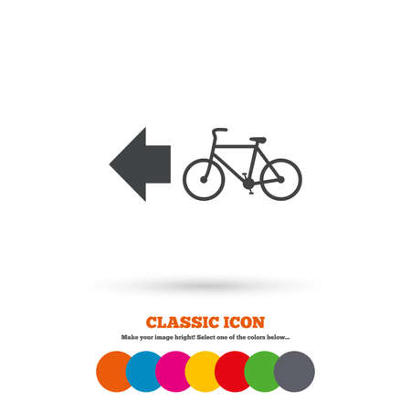 trail: Bicycle path trail sign icon Illustration
