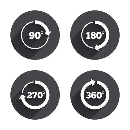 angle: Angle 45-360 degrees circle icons