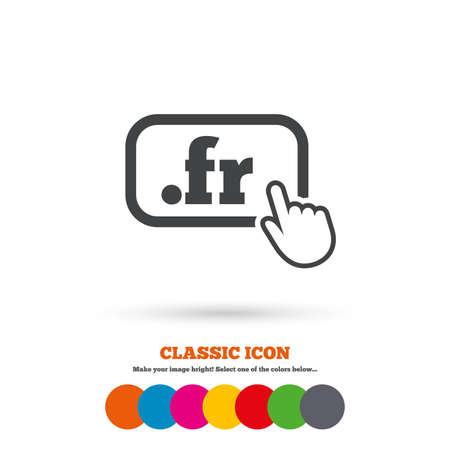 domain: Domain FR sign icon