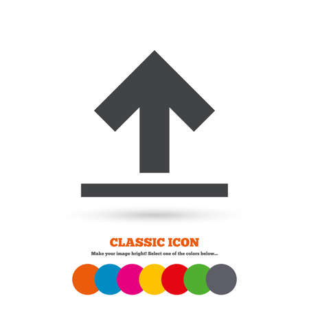 this side up: This side up sign icon Illustration