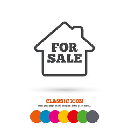 for sale sign: For sale sign icon Illustration