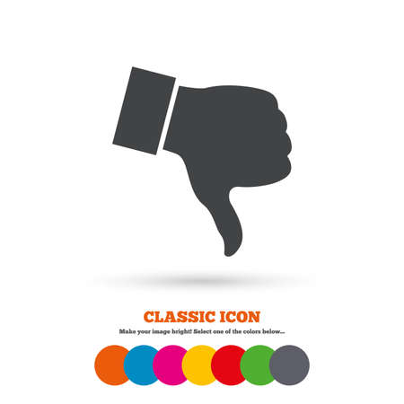 dislike: Dislike teken icoon