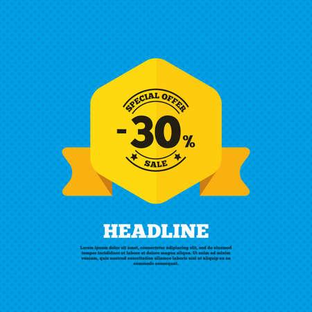 30: 30 percent discount sign icon Illustration
