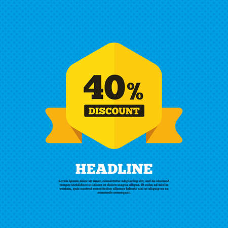 40: 40 percent discount sign icon