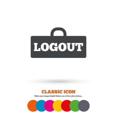 logout: Logout sign icon Illustration
