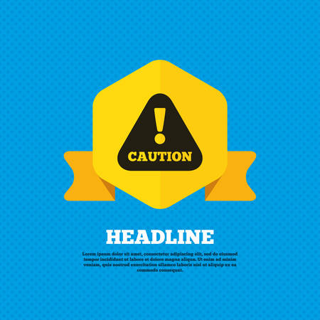 warning: Attention caution sign icon Illustration