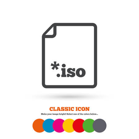 iso: File ISO icon Illustration