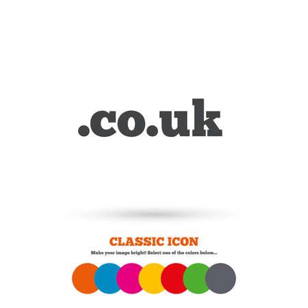 subdomain: Domain CO.UK sign icon