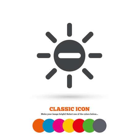 minus sign: Sun minus sign icon