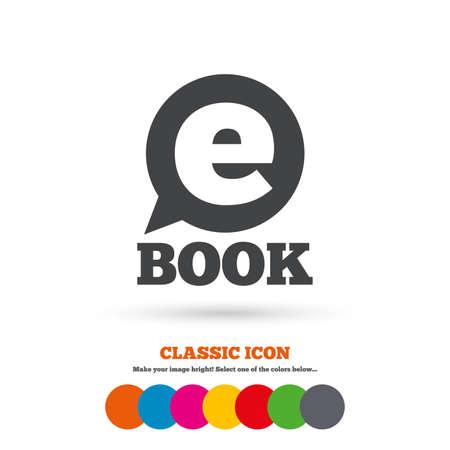 digital illustration: E-Book sign icon