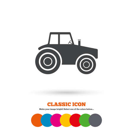 tractor sign: Tractor sign icon