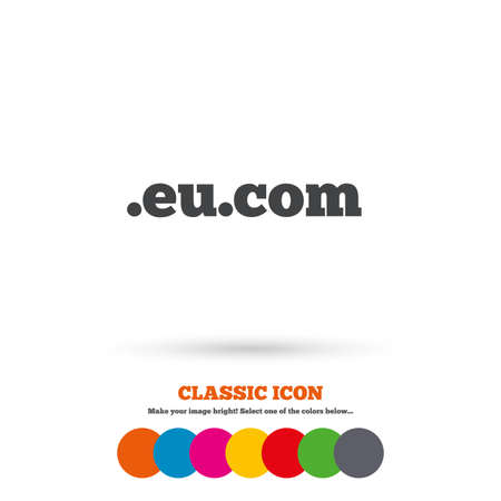 subdomain: Domain EU.COM sign icon Illustration
