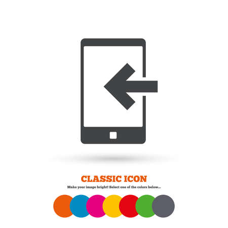 incoming: Incoming call sign icon Illustration