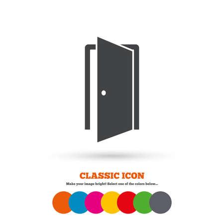door sign: Door sign icon Illustration