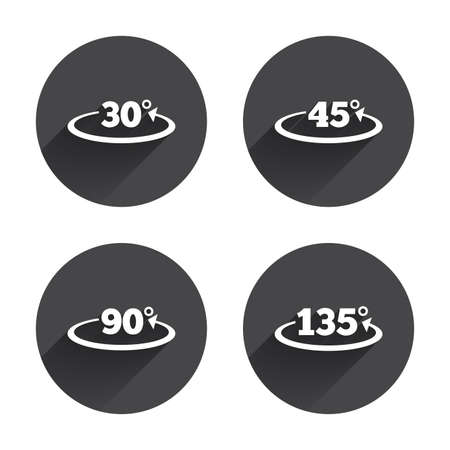 Angle 30-135 degrees icons